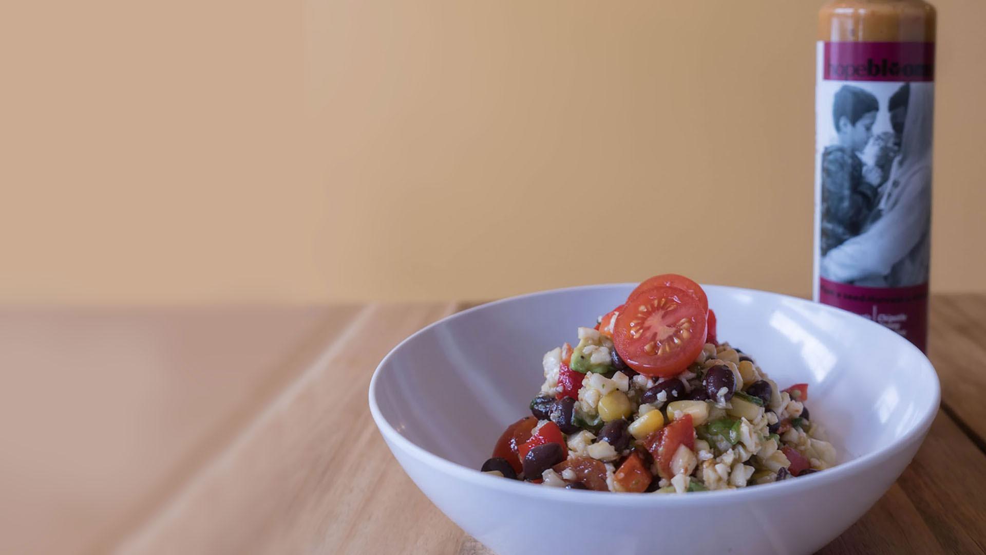 "Cauliflower ""Rice"" & Black Bean Salad"
