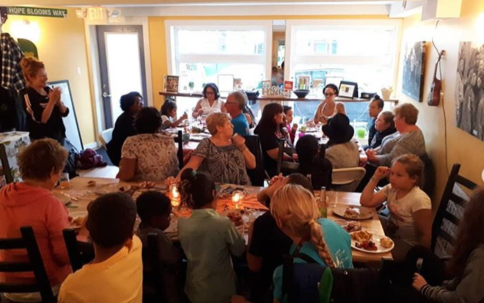 Thanksgiving community dinner at Hope Blooms